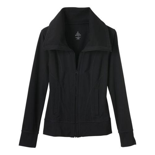 Womens Prana Cori Warm-Up Unhooded Jackets - Black M