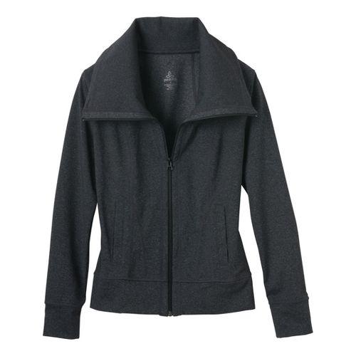 Womens Prana Cori Warm-Up Unhooded Jackets - Charcoal Heather M
