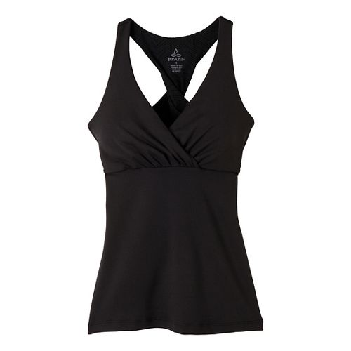 Womens Prana Kira Sport Top Bras - Black S