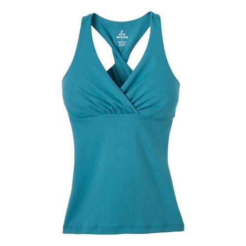 Womens Prana Kira Sport Top Bras - Glacier Blue S