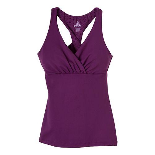Womens Prana Kira Sport Top Bras - Red Violet L
