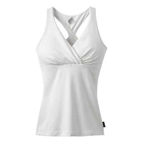 Womens Prana Kira Sport Top Bras - White XL