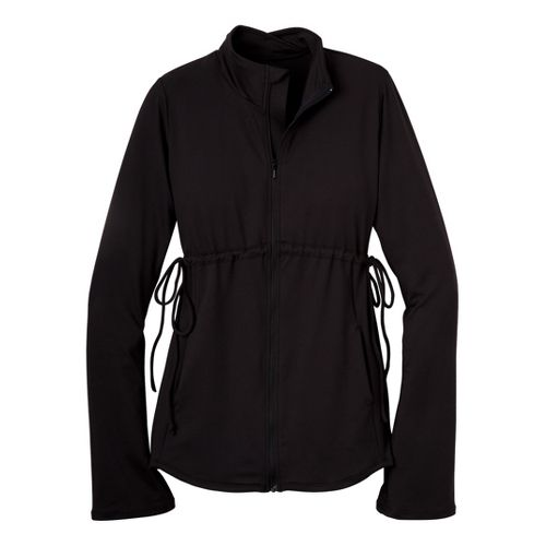 Womens Prana Luella Warm-Up Unhooded Jackets - Black L