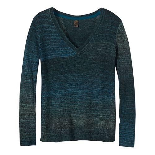 Womens prAna Juliana Sweater Long Sleeve Technical Tops - Coal XL