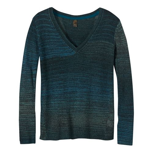 Womens prAna Juliana Sweater Long Sleeve Technical Tops - Green XS