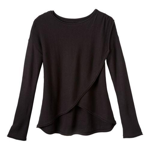 Womens Prana Juliana Sweater Long Sleeve No Zip Technical Tops - Black M