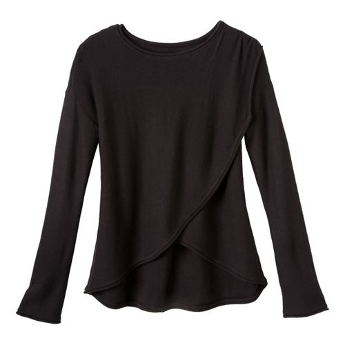 Womens Prana Juliana Sweater Long Sleeve No Zip Technical Tops - Black S