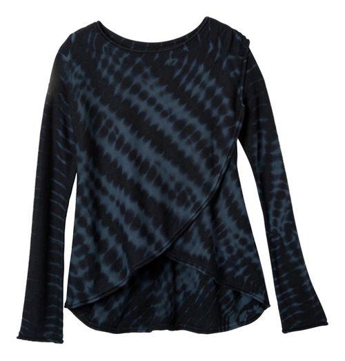 Womens prAna Juliana Sweater Long Sleeve Technical Tops - Coal L