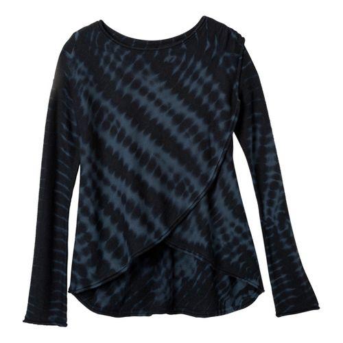 Womens prAna Juliana Sweater Long Sleeve Technical Tops - Coal S