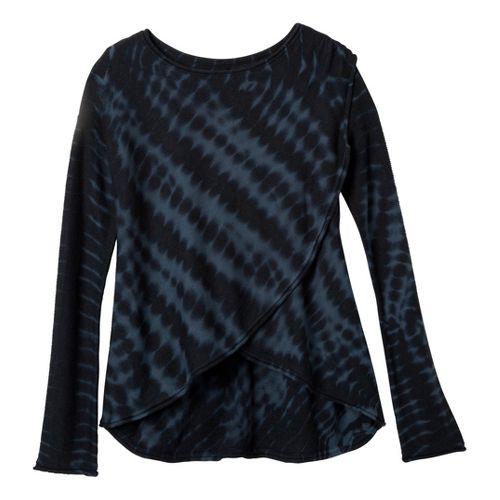 Womens prAna Juliana Sweater Long Sleeve Technical Tops - Coal XL