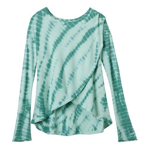 Womens Prana Juliana Sweater Long Sleeve No Zip Technical Tops - Deep Sea XL