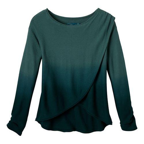 Womens Prana Juliana Sweater Long Sleeve No Zip Technical Tops - Dusty Teal L