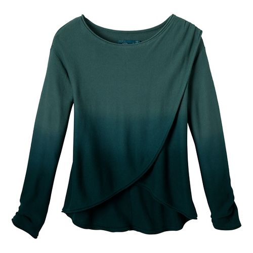 Womens Prana Juliana Sweater Long Sleeve No Zip Technical Tops - Dusty Teal XL