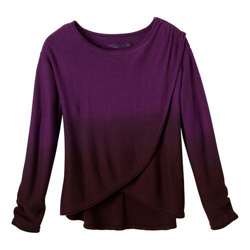 Womens Prana Juliana Sweater Long Sleeve No Zip Technical Tops - Red Violet M