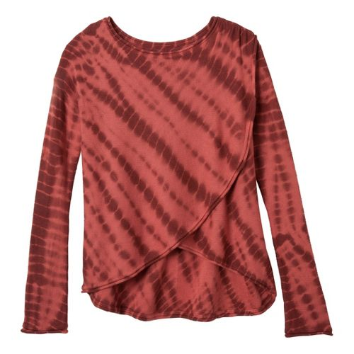 Womens Prana Juliana Sweater Long Sleeve No Zip Technical Tops - Terracotta M