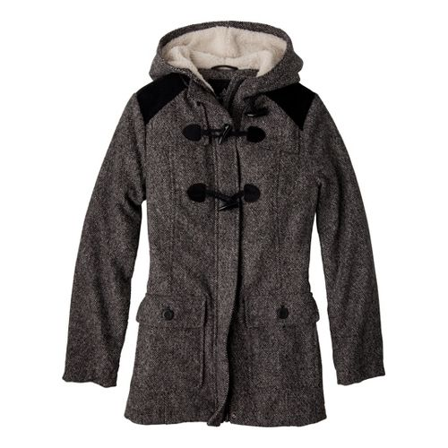 Womens Prana Megan Warm-Up Unhooded Jackets - Black S
