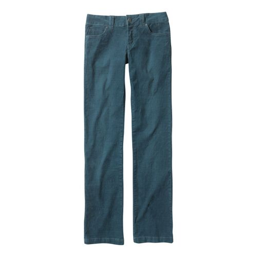 Womens Prana Canyon Cord Full Length Pants - Blue Yonder 10T