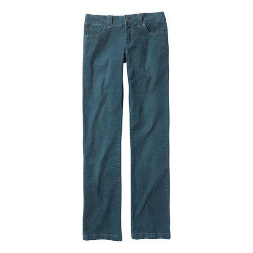 Womens Prana Canyon Cord Full Length Pants - Blue Yonder 6T