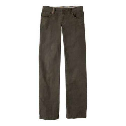 Womens Prana Canyon Cord Full Length Pants - Cargo Green 12S