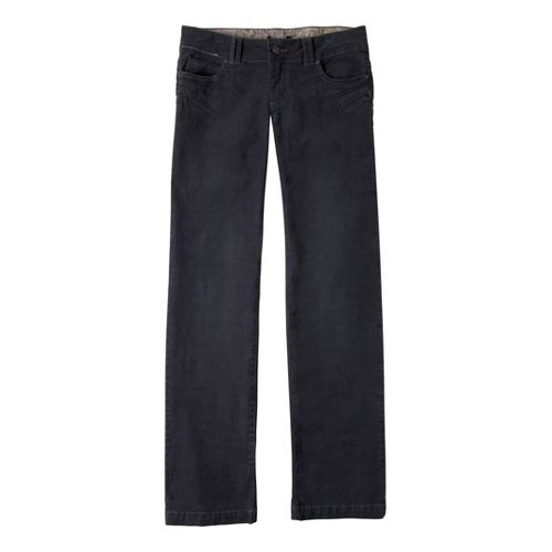 Womens Prana Canyon Cord Full Length Pants - Coal 8T