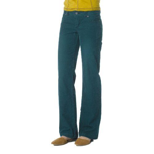Womens Prana Canyon Cord Full Length Pants - Deep Teal 4