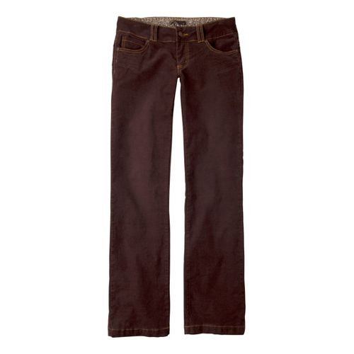 Womens Prana Canyon Cord Full Length Pants - Espresso 12T