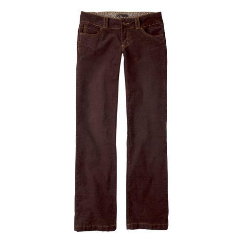 Womens Prana Canyon Cord Full Length Pants - Espresso 6S