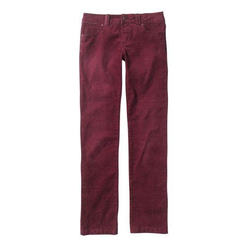 Womens Prana Canyon Cord Full Length Pants - Pomegranate 0T