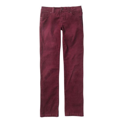 Womens Prana Canyon Cord Full Length Pants - Pomegranate 10S