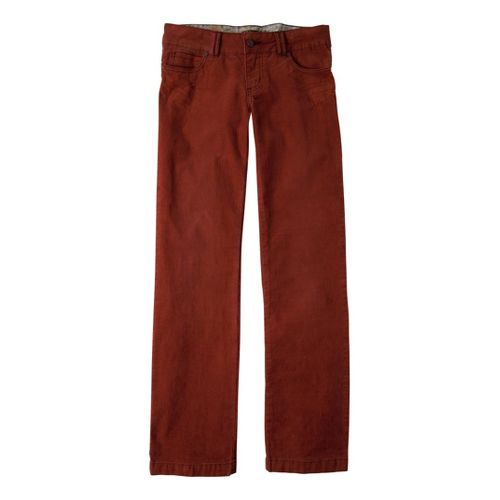 Womens Prana Canyon Cord Full Length Pants - Rust 0T