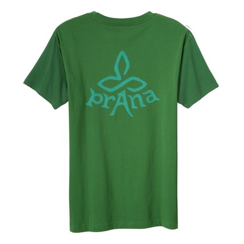 Mens Prana Heritage T Short Sleeve Non-Technical Tops - Deep Jade S