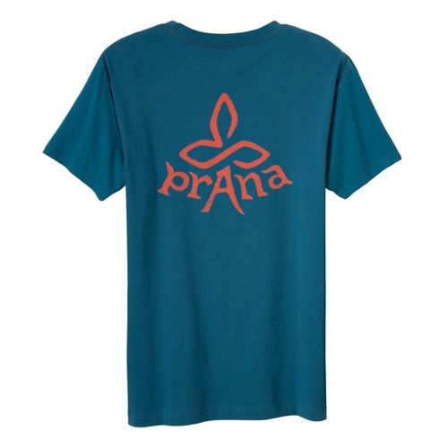 Mens Prana Heritage T Short Sleeve Non-Technical Tops - Ink Blue L
