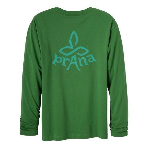 Mens Prana Heritage Long Sleeve Non-Technical Tops - Deep Jade M
