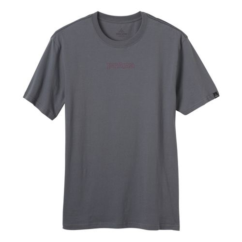 Mens Prana Sacred T Short Sleeve Non-Technical Tops - Gravel S