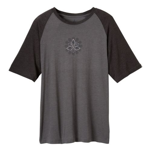 Mens Prana Keltic T Short Sleeve Technical Tops - Charcoal XL