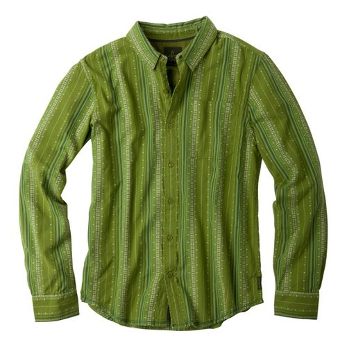 Mens Prana Carillo Long Sleeve Non-Technical Tops - Grass L