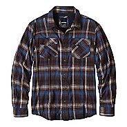Mens prAna Asylum Flannel Long Sleeve Non-Technical Tops