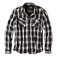 Mens prAna Asylum Flannel Long Sleeve Non-Technical Tops