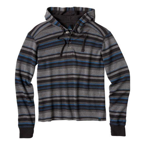 Mens Prana Dolton Hoodie Warm-Up Hooded Jackets - Charcoal L