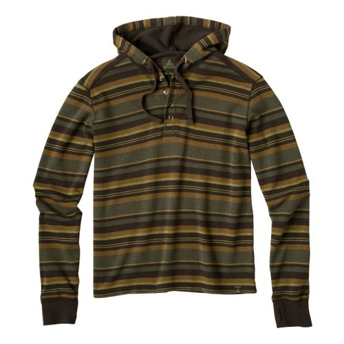 Mens Prana Dolton Hoodie Warm-Up Hooded Jackets - Dark Olive M