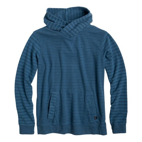 Mens Prana Rincon Hoodie Warm-Up Hooded Jackets - Aegean Blue L