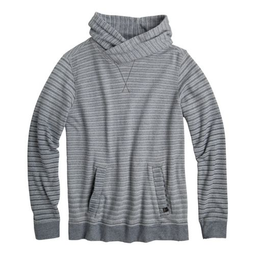 Mens Prana Rincon Hoodie Warm-Up Hooded Jackets - Grey L