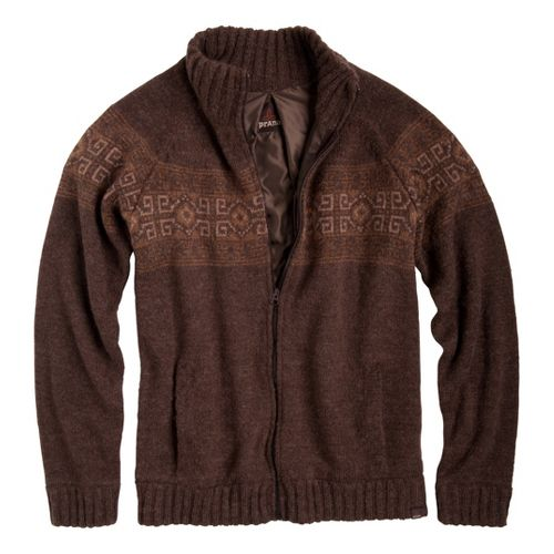 Mens Prana Graham Sweater Long Sleeve Non-Technical Tops - Espresso XXL