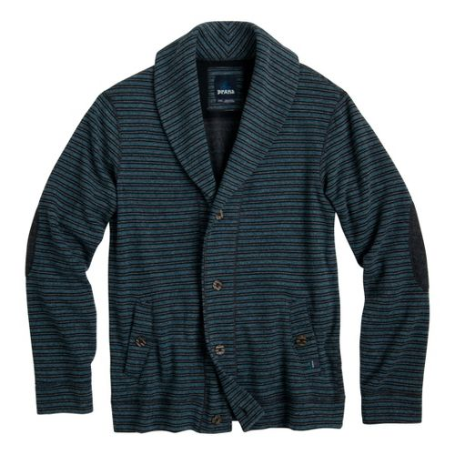 Mens Prana Norton Warm-Up Unhooded Jackets - Blue L