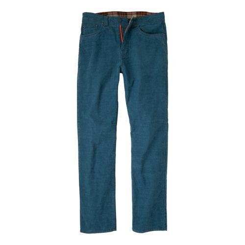 Mens Prana Kravitz Cord Full Length Pants - Blue Jean 28