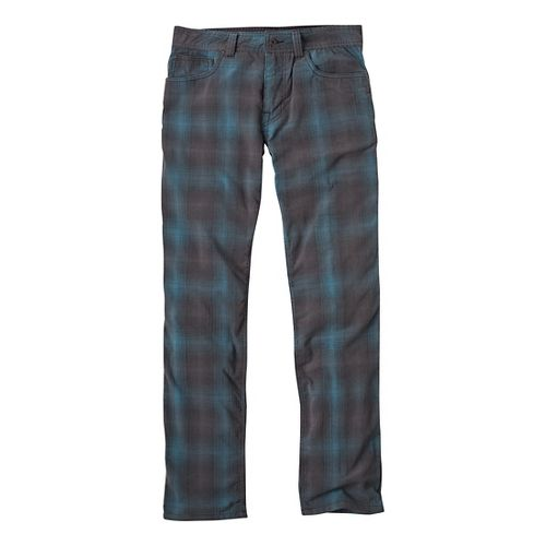 Mens Prana Kravitz Cord Full Length Pants - Gravel Plaid 30