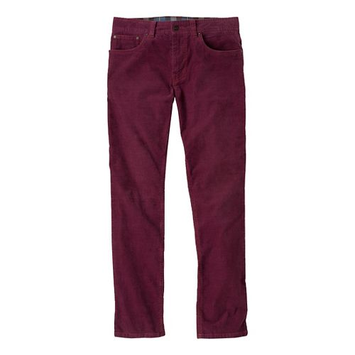 Mens Prana Kravitz Cord Full Length Pants - Mahogany 28