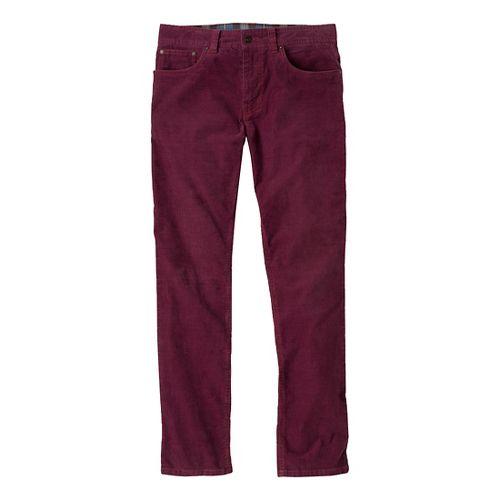 Mens Prana Kravitz Cord Full Length Pants - Mahogany 34