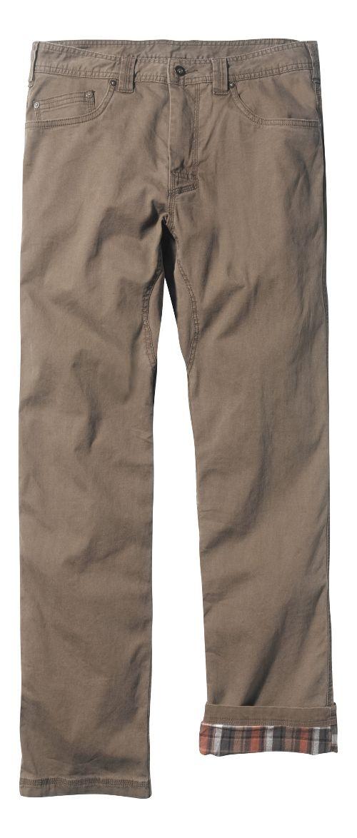 Mens prAna Bronson Lined Pants - Mud 34
