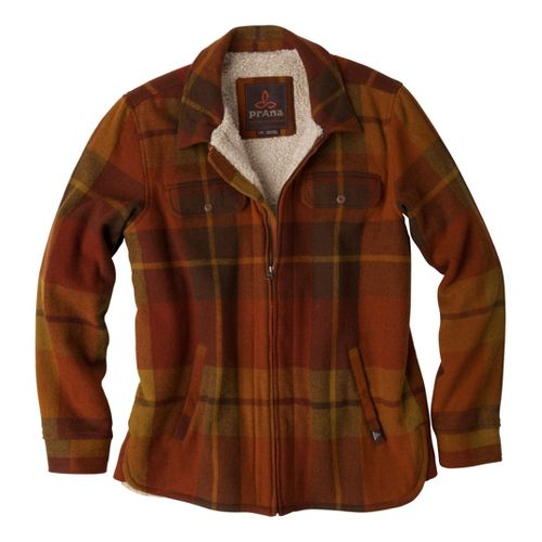 Mens Prana Sawyer Outerwear Jackets - Rust L